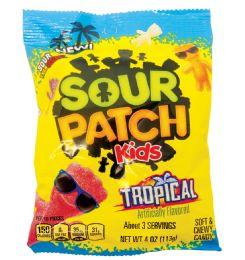 12 Units of Sour Patch Tropical 4.0 Oz Peg Bag - Food & Beverage