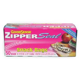 40 Units of Good Sense Snack Bag 50 Count 6 1/2 X 3 1/4 Inches Zipper Seal - Bags Of All Types