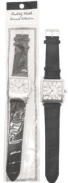 20 Units of UNISEX LARGE BLACK WATCH SQUARE LEATHERETTE