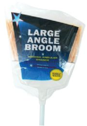 24 Units of LARGE ANGLE BROOM WITH 43 INCH METAL HANDLE - Cleaning Products