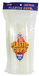 24 Units of Pride Plastic Cup 100 Ct 7 Oz Clear - Disposable Cups