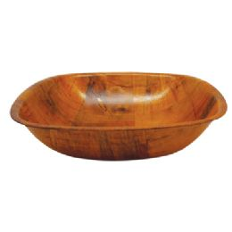 48 Units of Salad Bowl 8 X 8 Inch 28.5 Oz Wooden - Plastic Bowls and Plates
