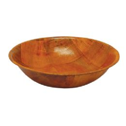 48 Units of Salad Bowl 8 Inch 28.5 Oz Wooden - Plastic Bowls and Plates