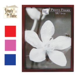 36 Units of PLASTIC PHOTO FRAME 5 X 7 INCH ASSORTED COLORS - Picture Frames