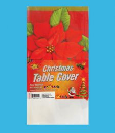 48 Units of Plastic Table Cover 54 X 108 Inch Christmas - Christmas Decorations