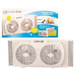 Comfort Zone Window Fan 9 Inch 2 Speed Twin Etl Approved - Electric Fans