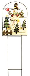 8 Units of Christmas Hand Painted Lawn Decoration Large 41 Inch X 12.5 Inch Wide - Christmas Decorations