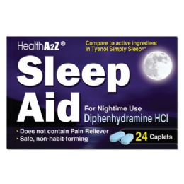 24 Units of Sleep Aid 24 Coated Caplets Diphenhydramine Hcl 25 Mg Compare To Simply Sleep - Personal Care Items