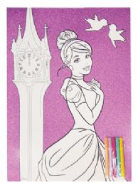 72 Units of Frozen/princess Coloring Sheet Set 2 Pc 11 X 15 Inch + 5 Markers Prepriced $1 - Markers and Highlighters