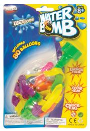 36 Units of WATER BALLONS WITH WATER NOZZLE 80 COUNT - Balls