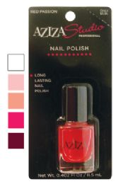 36 Units of AZIZA PROFESSIONAL NAIL POLISH .40 OUNCE ASSORTED COLORS PREPRICED $3.95