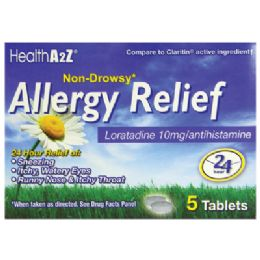 24 Units of Allergy Relief 24 Hr 5 Ct Loratadine 10 Mg NoN-Drowsy Compare To Claritin - Personal Care Items