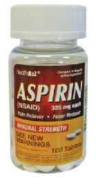 24 Units of Aspirin 100 Count 325 Mg Compare To Bayer - Personal Care Items