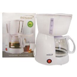 6 Units of BRENTWOOD COFFEE MAKER 4 CUP WHITE CETLUS LISTED - Home Goods