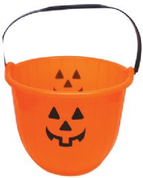 48 Units of Halloween Bucket 8 X 6 Inch Orange - Halloween & Thanksgiving