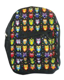 18 Units of BACK PACK 16X12X6 INCHES OWLS - Backpacks 16""
