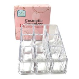 36 Units of Cosmetic Organizer Square 3.5 X 3.5 Inches 9 Compartments - Storage Holders and Organizers