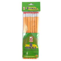 48 Units of Check Plus No. 2 Pencils 8 Count - Pencils