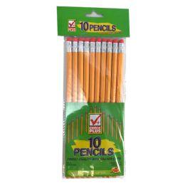 48 Units of CHECK PLUS NO. 2 PENCILS 10 COUNT - Pencils