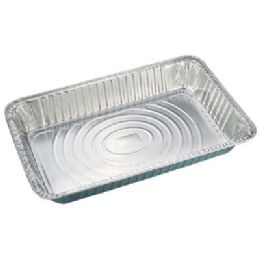 100 Units of Full Size Medium Deep Pan 20.5 X 13 X 2.5 in - Aluminum Pans