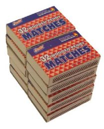 48 Units of Wooden Penny Matches 10 Pack 32 Count - BBQ supplies