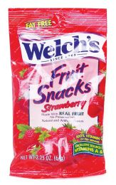 48 Units of Welch's Fruit Snacks 2.25 Oz Strawberry (made In Usa) - Food & Beverage