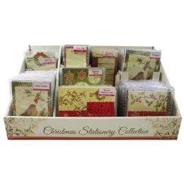 96 Units of CHRISTMAS STATIONARY DISPLAY INCLUDES SPIRAL NOTEBOOK - Notebooks