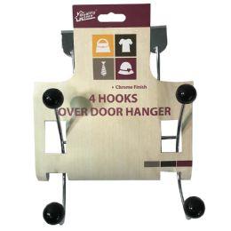 48 Units of Wall Hanger 4 Hooks Metal Chrome - Hooks