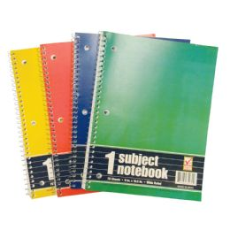 48 Units of SPIRAL NOTEBOOK 70 SHEET 10.5 X 8 IN 1 SUBJECT WIDE RULED - Notebooks
