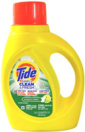 6 Units of Tide Liq Detergent 50z Simply Daybreak Fresh - Laundry Detergent