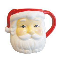 4 Units of Santa Face Christmas Mug 26 oz - Glassware