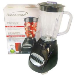 4 Units of BRENTWOOD 12 SPEED+PULSE BLENDER 50 OUNCE BLACK CETL LISTED - Kitchen Gadgets & Tools
