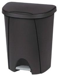 4 Units of STERILITE WASTE BASKET 26 QUART WITH LID AND STEP OPENER BLACK - Waste Basket