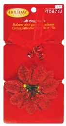 24 Units of Christmas Gift Wrap Bands 2 Pack Prepriced $ 2.97 In Display - Christmas Decorations