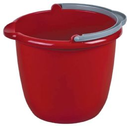 12 Units of STERILITE BUCKET 10 QT WITH SPOUT AND HANDLE MADE IN USA - Buckets & Basins