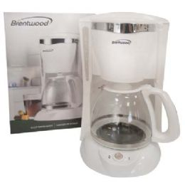 6 Units of BRENTWOOD COFFEE MAKER 12 CUP WHITE ETL LISTED - Kitchen Gadgets & Tools