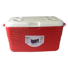 INSULATED COOLER 12.7 GALLONS WITH HANDLES - Camping Gear