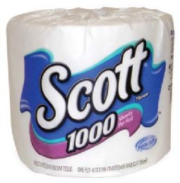36 Units of SCOTT BATH TISSUE 1000-1 PLY SHEETS MADE IN USA - Toilet Paper Holders