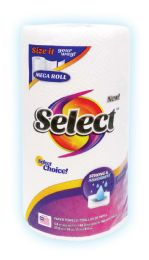 24 Units of SELECT PAPER TOWEL 2PLY 142CT MEGA ROLL SELECT A SIZE - Paper