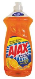 9 Units of AJAX DISHWASHING LIQUID 28 OZ TRIPLE ACTION ORANGE - Cleaning Products