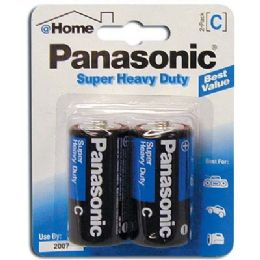 48 Units of Panasonic Super Batteries Heavy Duty C 2 Pack - Batteries