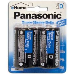 48 Units of PANASONIC BATTERIES SUPER HEAVY DUTY D 2 PACK - Batteries