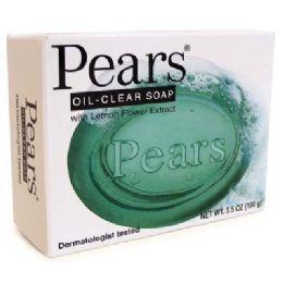 48 Units of Pears Bar Soap 3.5 Oz Lemon Flower Extract - Soap & Body Wash