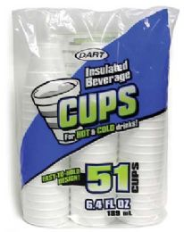 24 Units of Dart Insulated Foam Cups 51 Ct 6.4 oz - Disposable Cups