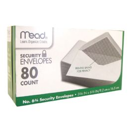 24 Units of MEAD SECURITY ENVELOPES 80 CT #6.75 WHITE - Envelopes