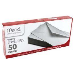 24 Units of MEAD ENVELOPES 50 CT #10 WHITE - Envelopes