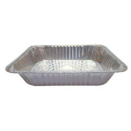 100 Units of Foil Lasagna Pan 12.5 X 10.5 X 3 In Half Size Deep Max 20 Casesin - Aluminum Pans