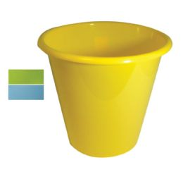 48 Units of Waste Basket Round 2.40 Gallon Assorted Colors - Waste Basket