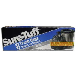 24 Units of Sure Tuff Trash Bag 8 Count 26 Gallon - Garbage & Storage Bags