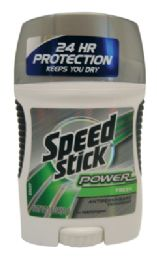 12 Units of SPEED STICK POWER DEODORANT 1.8 OZ FRESH SCENT - Perfumes and Cologne